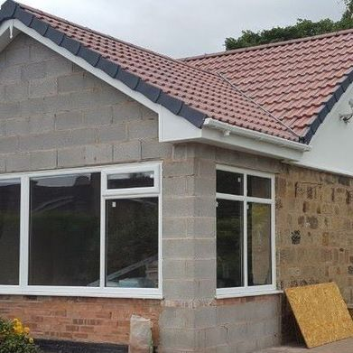 A new pitched roof installed by our team