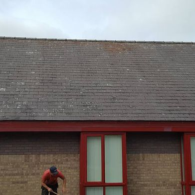 A clean roof after all the moss was cleared by our team