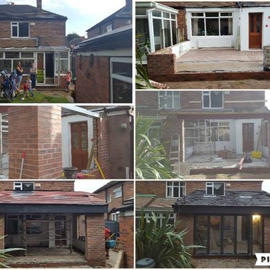 conservatory renovation work done by our team