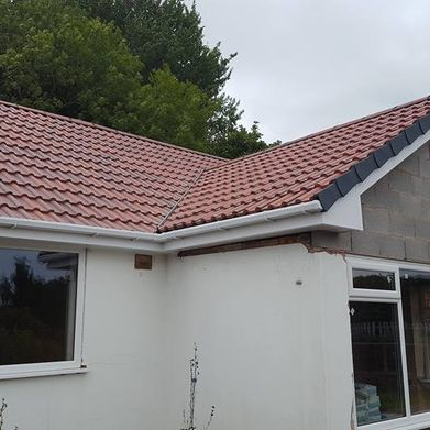 Completed roofing work that has been done by our team